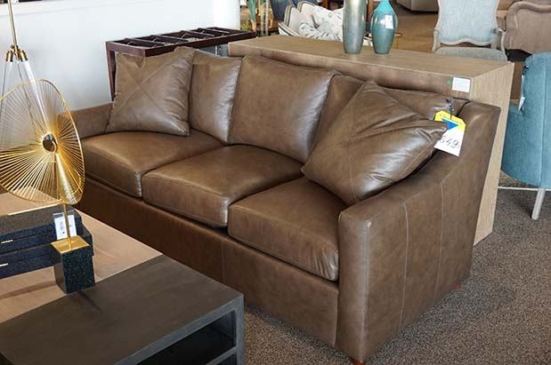 Leather 3 Cushion Couch