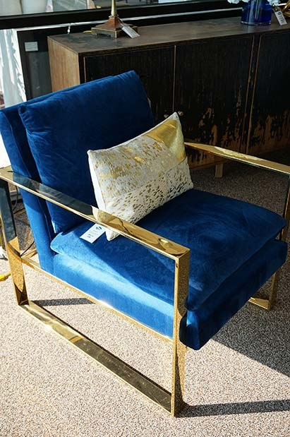 Blue Modern Accent Chair