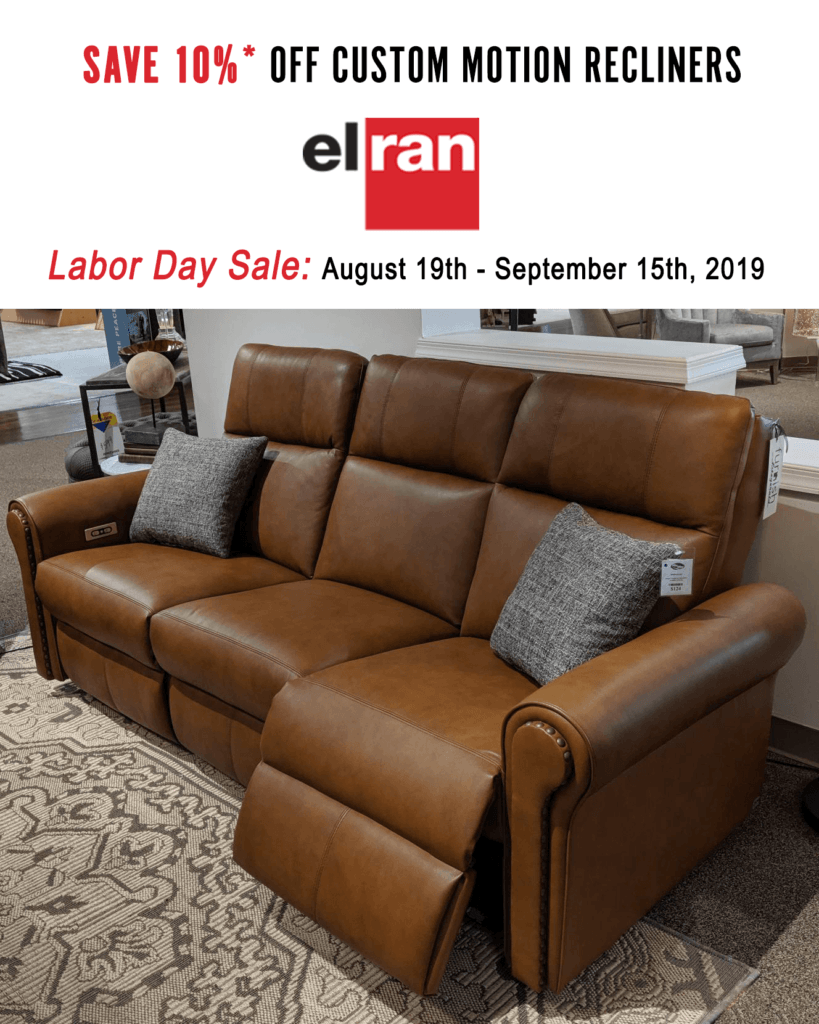 Elran Motion Recliner Labor Day Sale